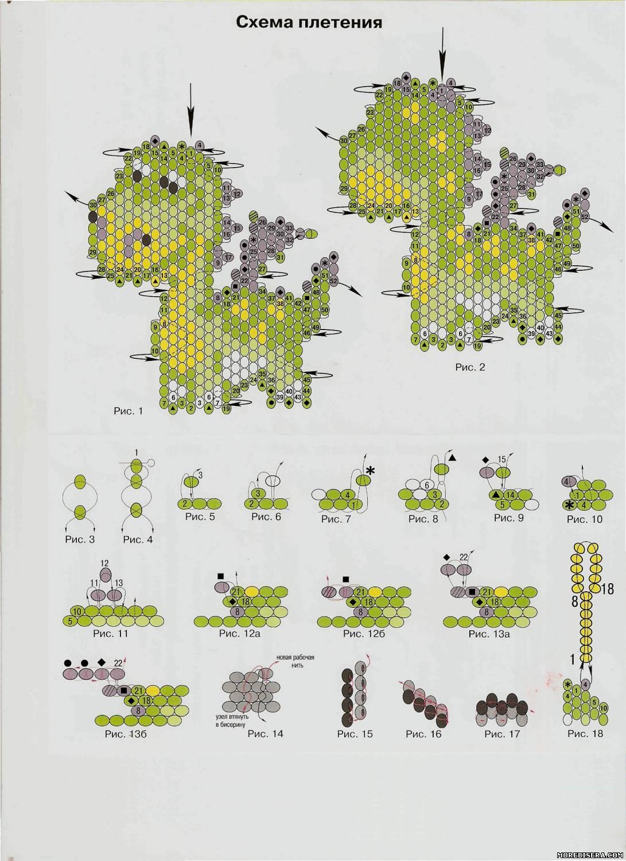схема русалки из бисера